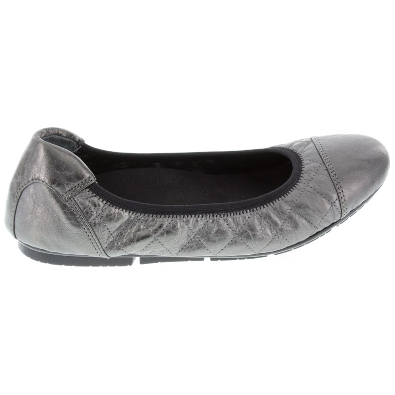 Vionic Ava Pewter Leather right side right shoe