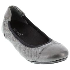98517ba9b23 Womens Vionic Ava Pewter Leather - Happyfeet.Com