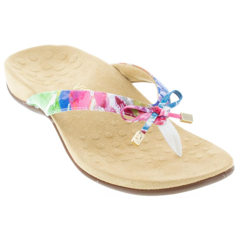 41aa0655cd0e5d Womens Vionic Bella 2 White Floral Synthetic - Happyfeet.Com
