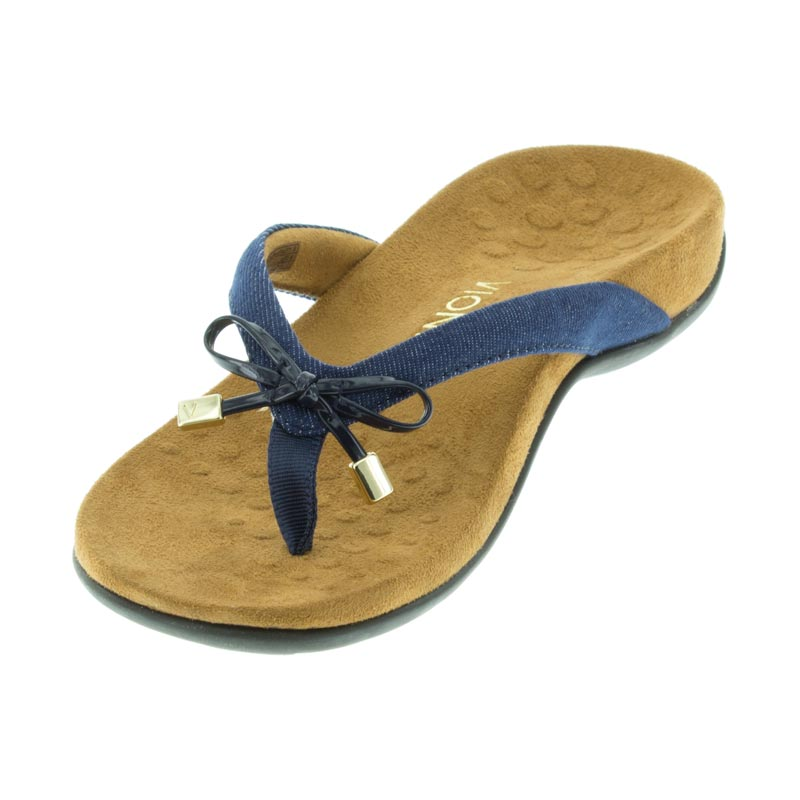 36f1669be Vionic Bella 2 Denim Synthetic left side front right shoe