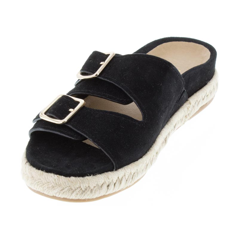 Vionic Gia Black Suede right side front right shoe