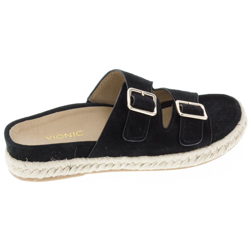 Vionic Gia Black Suede right side right shoe