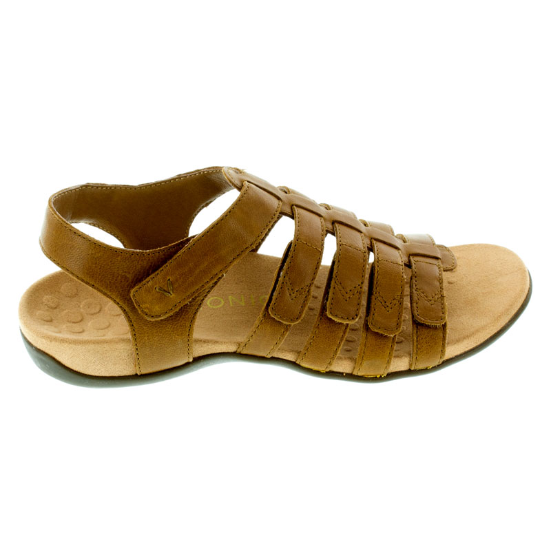 Vionic Harissa Mocha Leather Sandals right side view