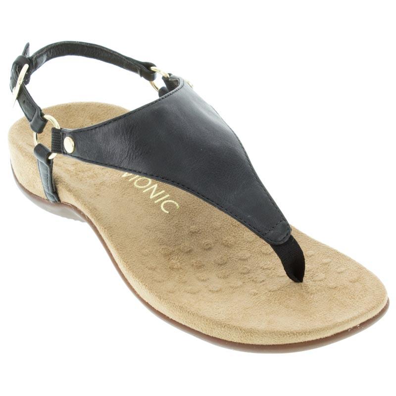 c8cc4661004e Womens Vionic Kirra Black Leather - Happyfeet.Com