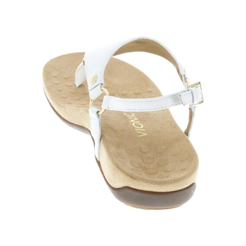 10a30e7c97c7 Womens Vionic Kirra White Leather - Happyfeet.Com