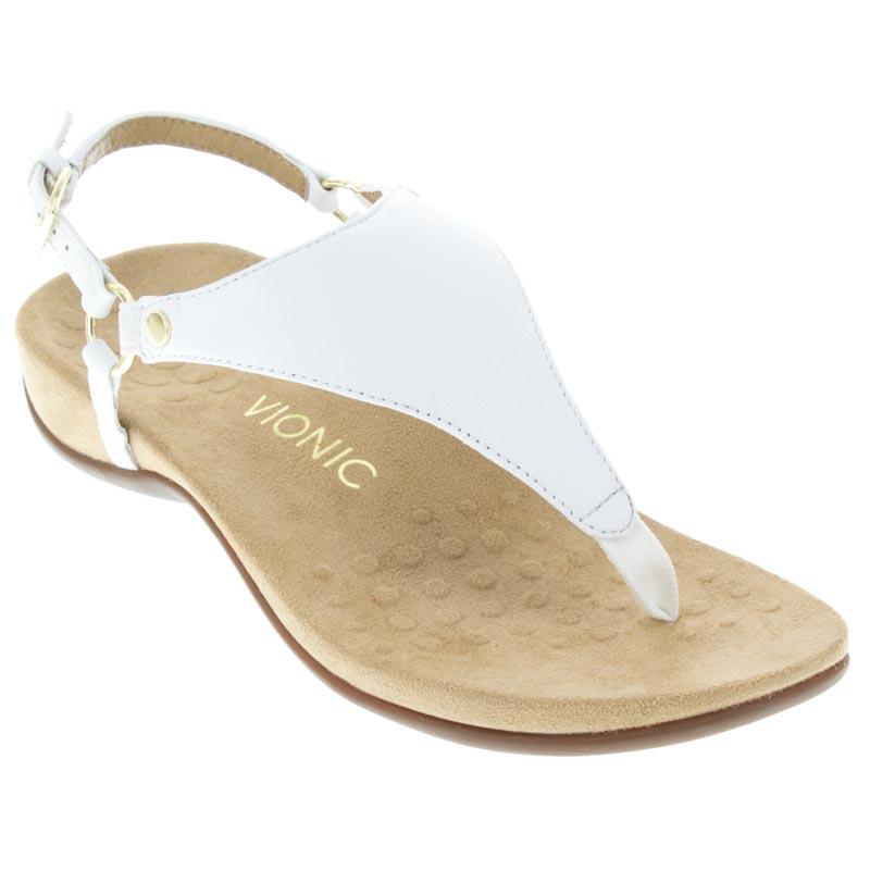 756f8e06e6 Womens Vionic Kirra White Leather - Happyfeet.Com