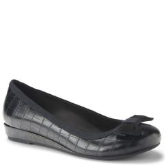 LYDIA LEATHER BLACK CROC