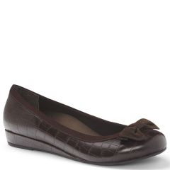 LYDIA LEATHER BROWN CROC
