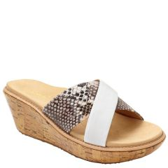 MONTEGO WHITE SNAKE LEATHER