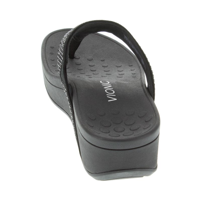 Vionic Naples Black Leather back view