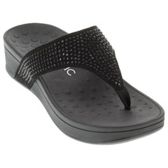 Vionic Naples Black Sandals