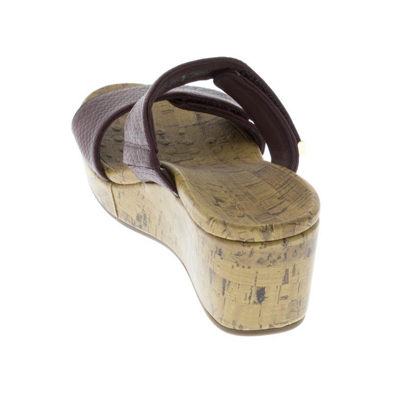31326a3a0279 Womens Vionic Pepper Merlot Snake Leather High Heel - Happyfeet.Com