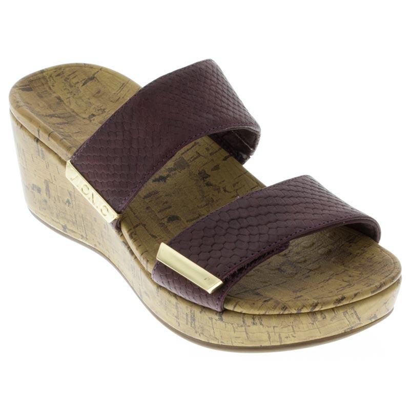 13f81ede2a Womens Vionic Pepper Merlot Snake Leather High Heel - Happyfeet.Com