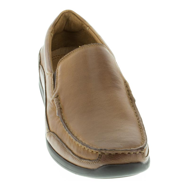 Vionic Preston Tan Leather left side front right shoe