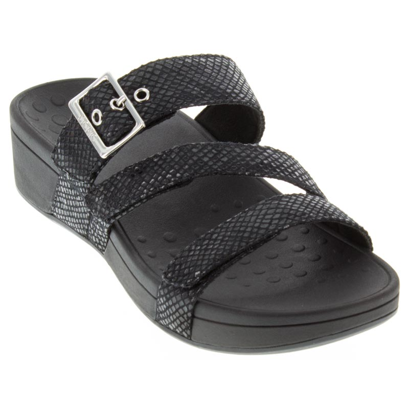 6c36442e6d58a1 Womens Vionic Rio Black Synthetic - Happyfeet.Com
