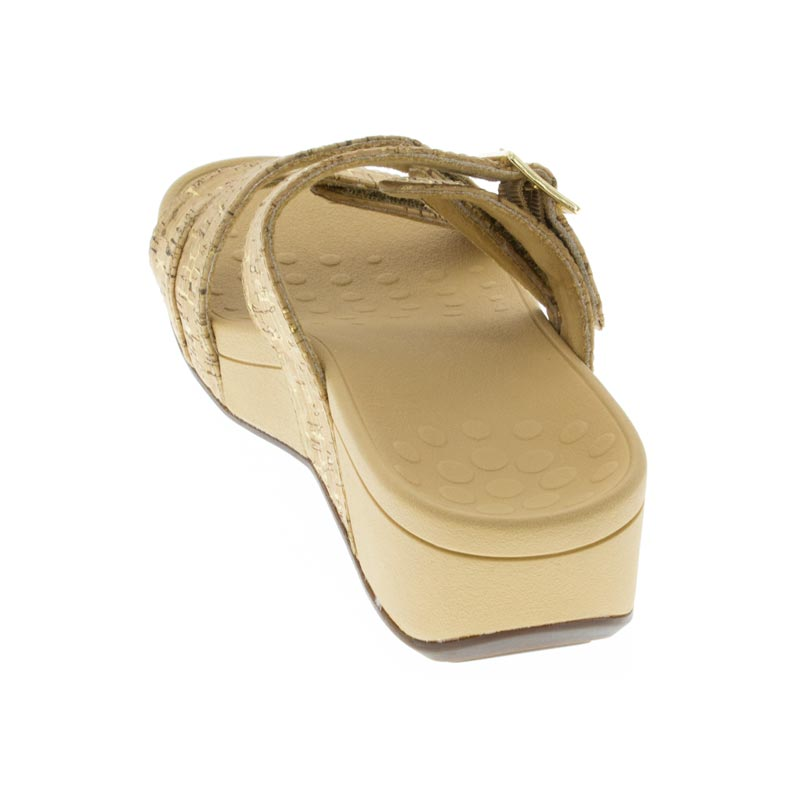 Vionic Rio Gold Synthetic sandals back view