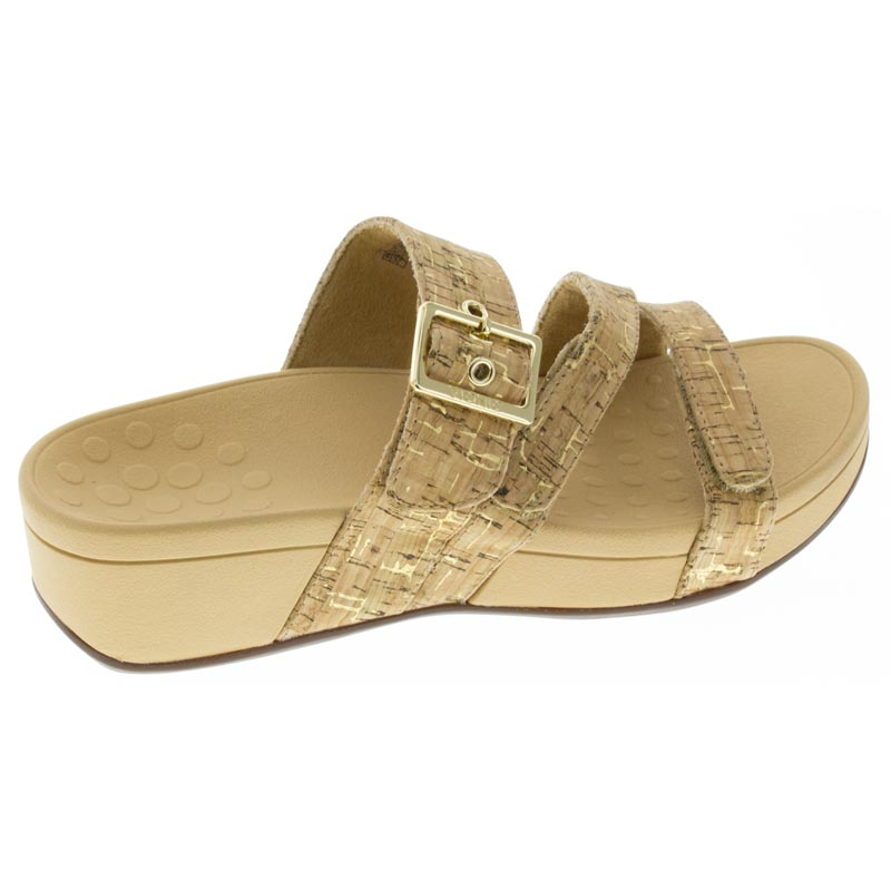 Vionic Rio Gold Synthetic sandals right side view
