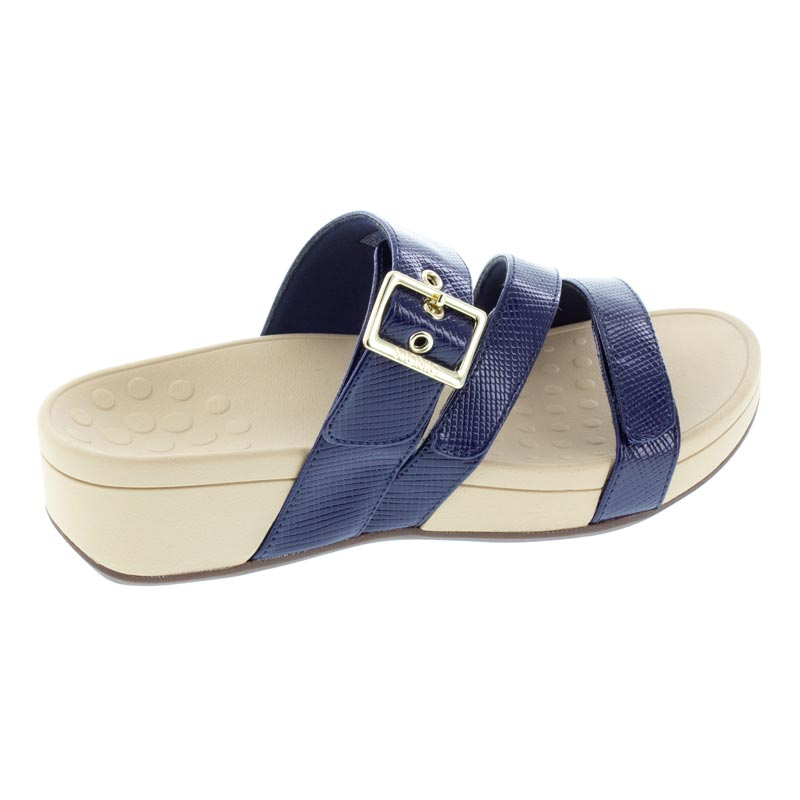 Vionic Rio Navy Lizard Synthetic Sandals right side view