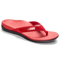 Vionic Tide II Leather Red Sandals
