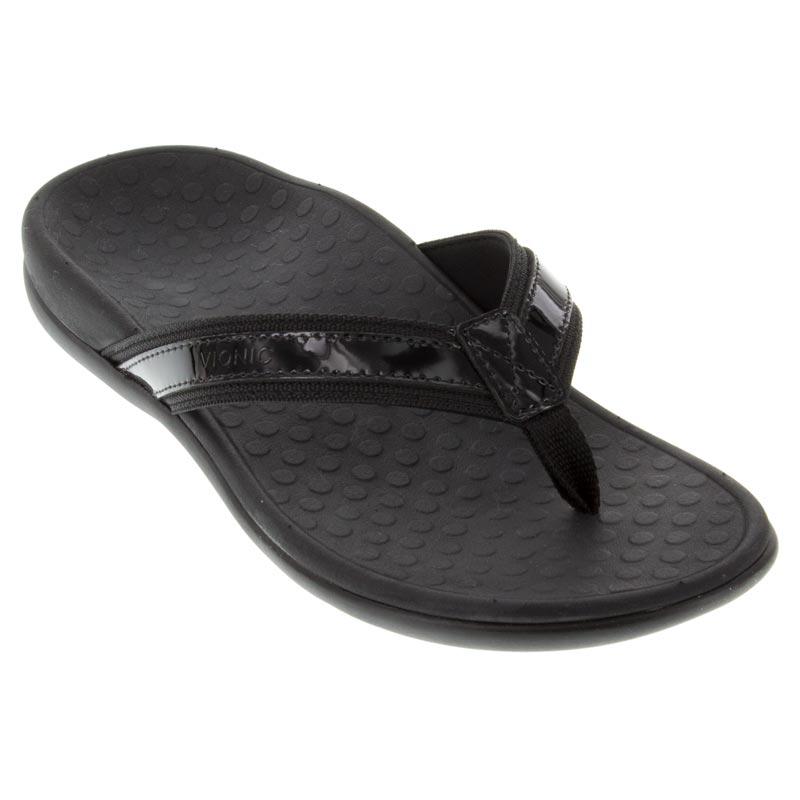 4e10d686558 Vionic Tide 2 Leather Black - HappyFeet.com