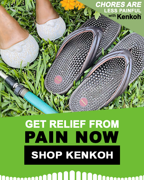 kenkoh massage sandals at Happy Feet Plus