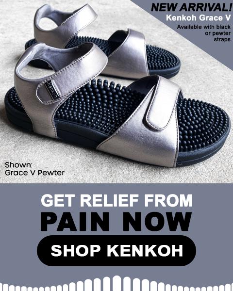 Kenkoh massage sandals at Happy Feet Plus Loyalty Program