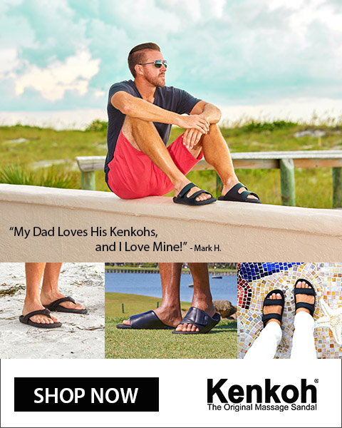 Kenkoh Massage Sandals - get pain and stress relief.