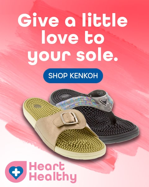 kenkoh massage sandals at Happy Feet Plus
