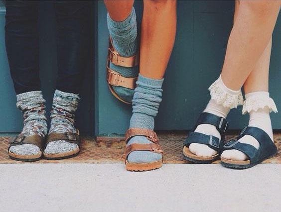 sandal with socks