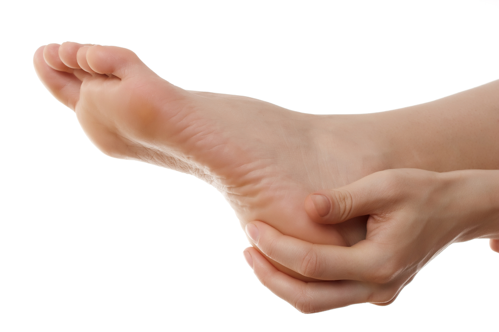 heel pain bare human foot