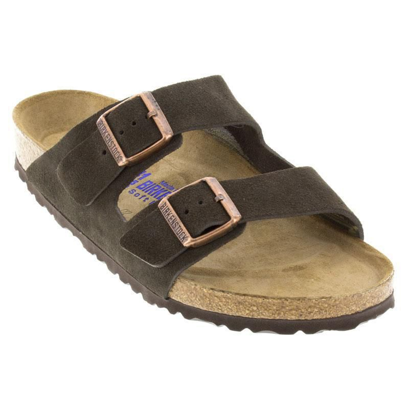 568738968c8 Womens And Mens Birkenstock Arizona Mocha Suede Soft Footbed ...