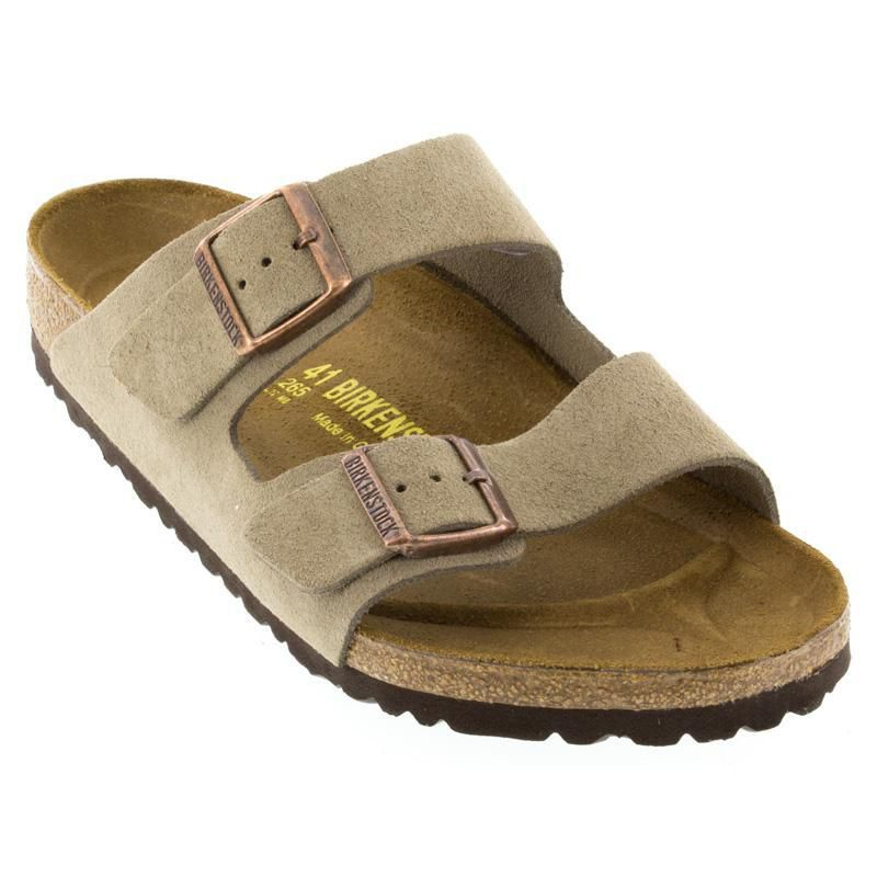 Mens Birkenstock Taupe And com Happyfeet Suede Womens Arizona 8Nn0yvwOmP