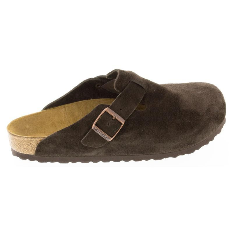 Birkenstock Boston Mocha Suede