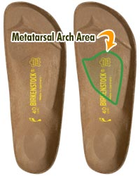 Metatarsal Arch on Birkenstock Footbed