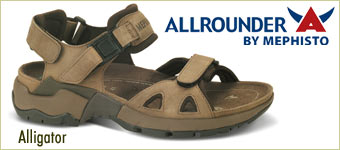 Mephisto Alligator Sandals