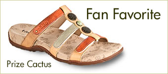 Taos Prize Cactus Leather Sandal