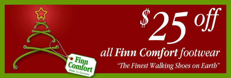 Save $25 on All Finn Comfort Footwear