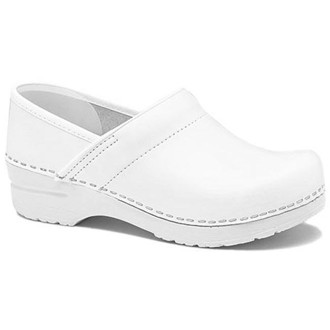 561620949f2b Dansko Narrow Pro Box Leather White - HappyFeet.com