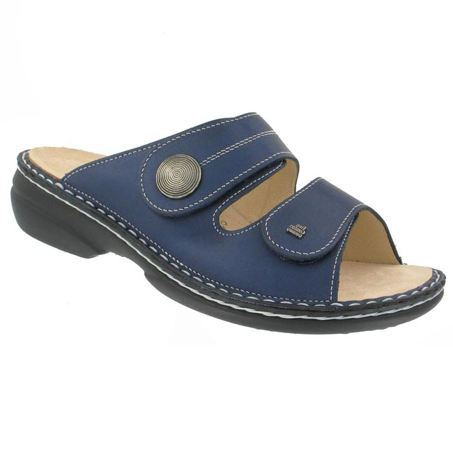 Finn Comfort Sansibar Leather Soft Footbed Marine