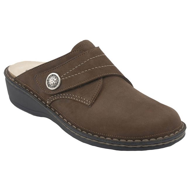 Finn Comfort Santa Fe Leather Soft Footbed Wood