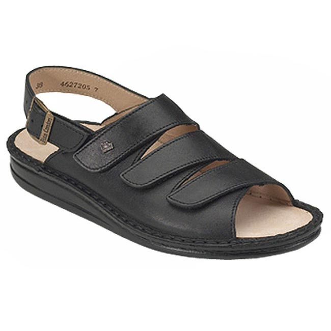 Finn Comfort Sylt Leather Soft Footbed Black