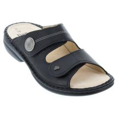 Finn Comfort Sansibar Leather Soft Footbed Black