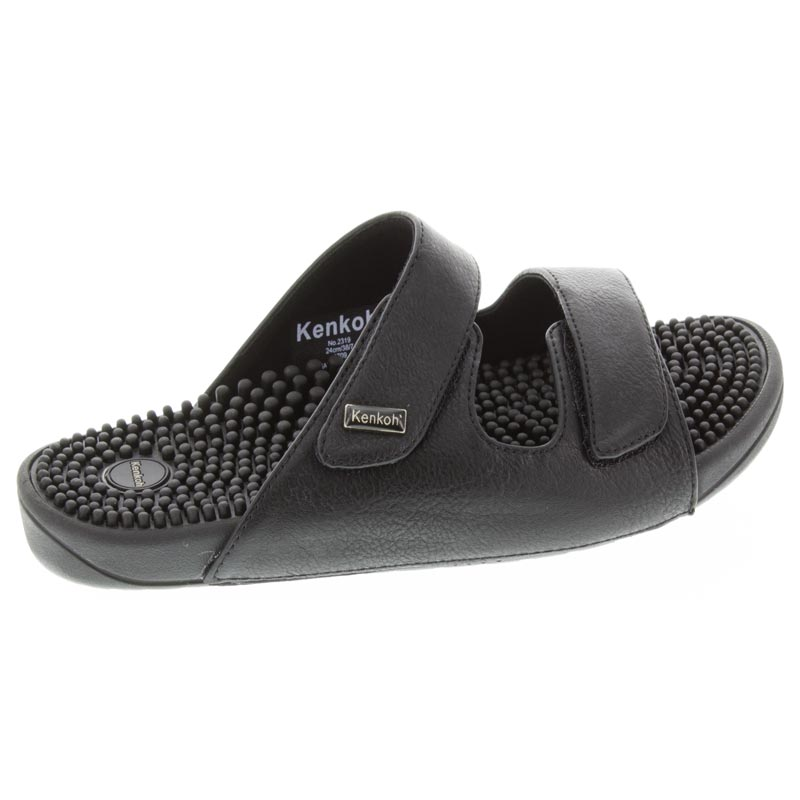 Kenkoh Serenity 2 Black Synthetic Massage Sandal right side, right shoe