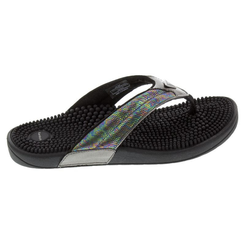 Kenkoh Spirit Silver Metallic Massage Sandal side view