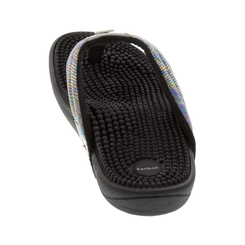 Kenkoh Spirit Silver Metallic Massage Sandal back view