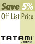 5% off all Tatami Footwear