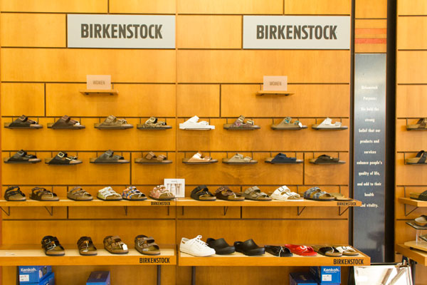 Happy Feet Plus Countryside sells Birkenstock footwear