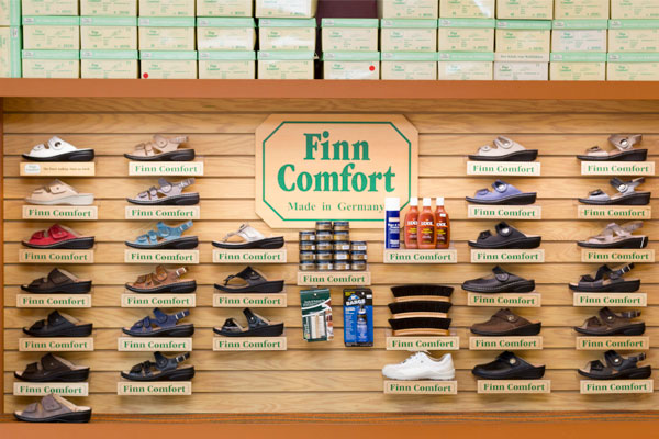 Happy Feet Plus Fort Myers features Finn Comfort footwear