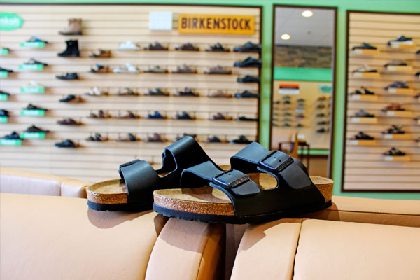 Birkenstock footwear featured at Happy Feet Plus Wesley Chapel